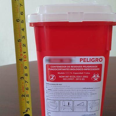 Contenedor Rpbi Rojo 1 lt